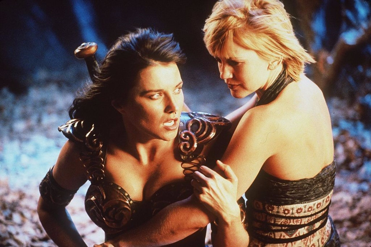 Lucy Lawless stars as Xena and Renee O'Connor stars as Gabrielle in 'Xena Warrior Princess.'
