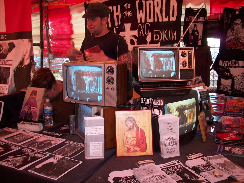 A Death to the World booth.