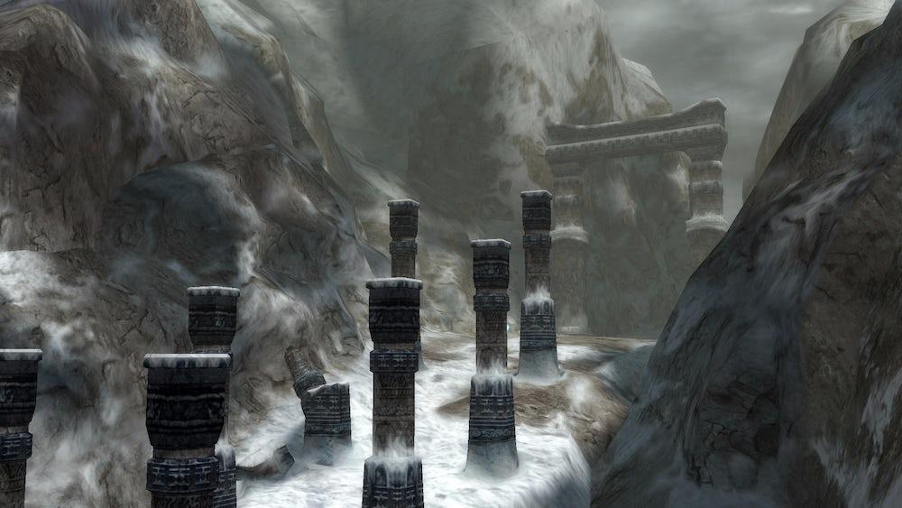 Mount Gagazet in Final Fantasy 10.