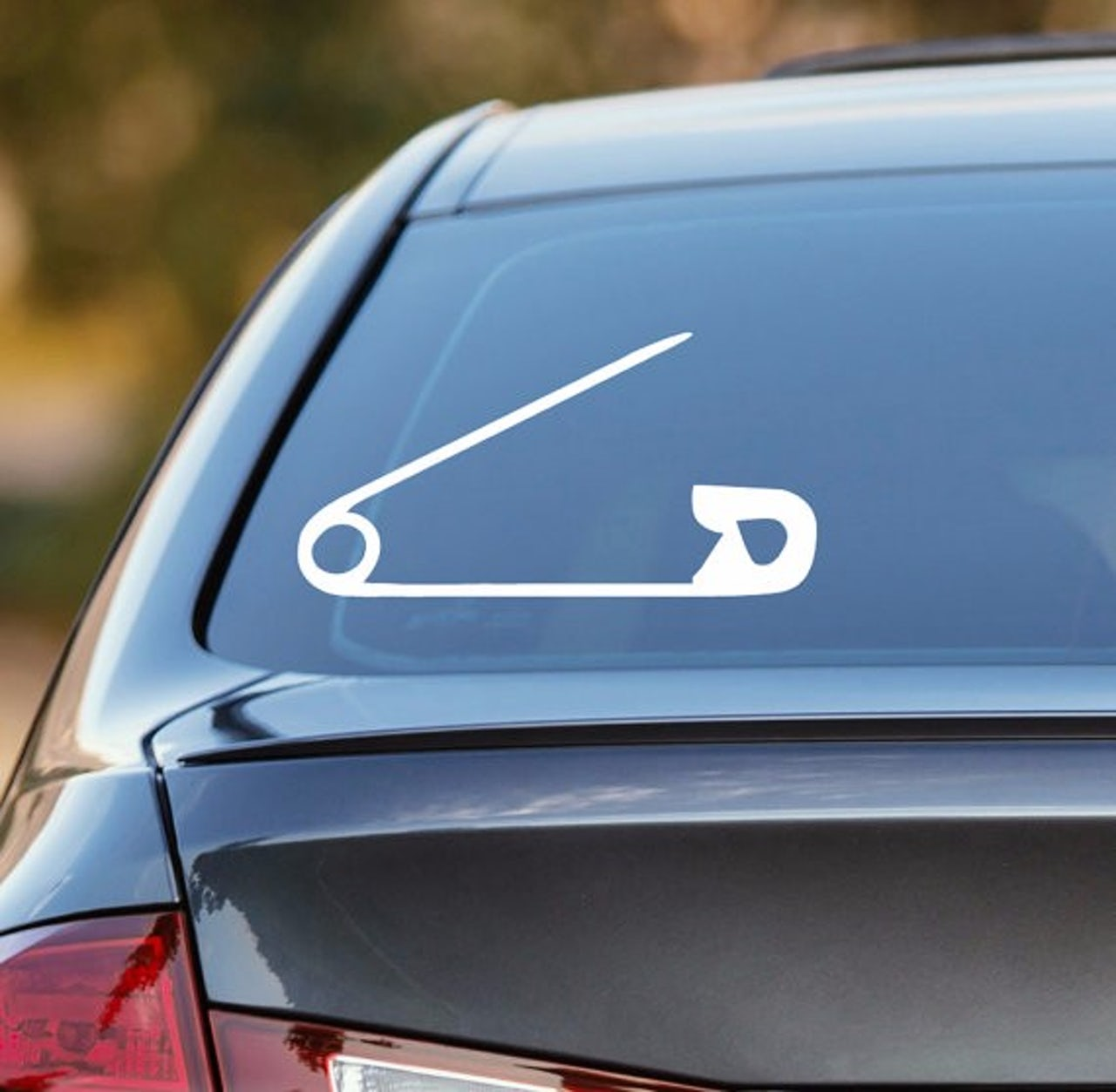 This decal ranges from 3 to 10 inches and comes in 17 colors.