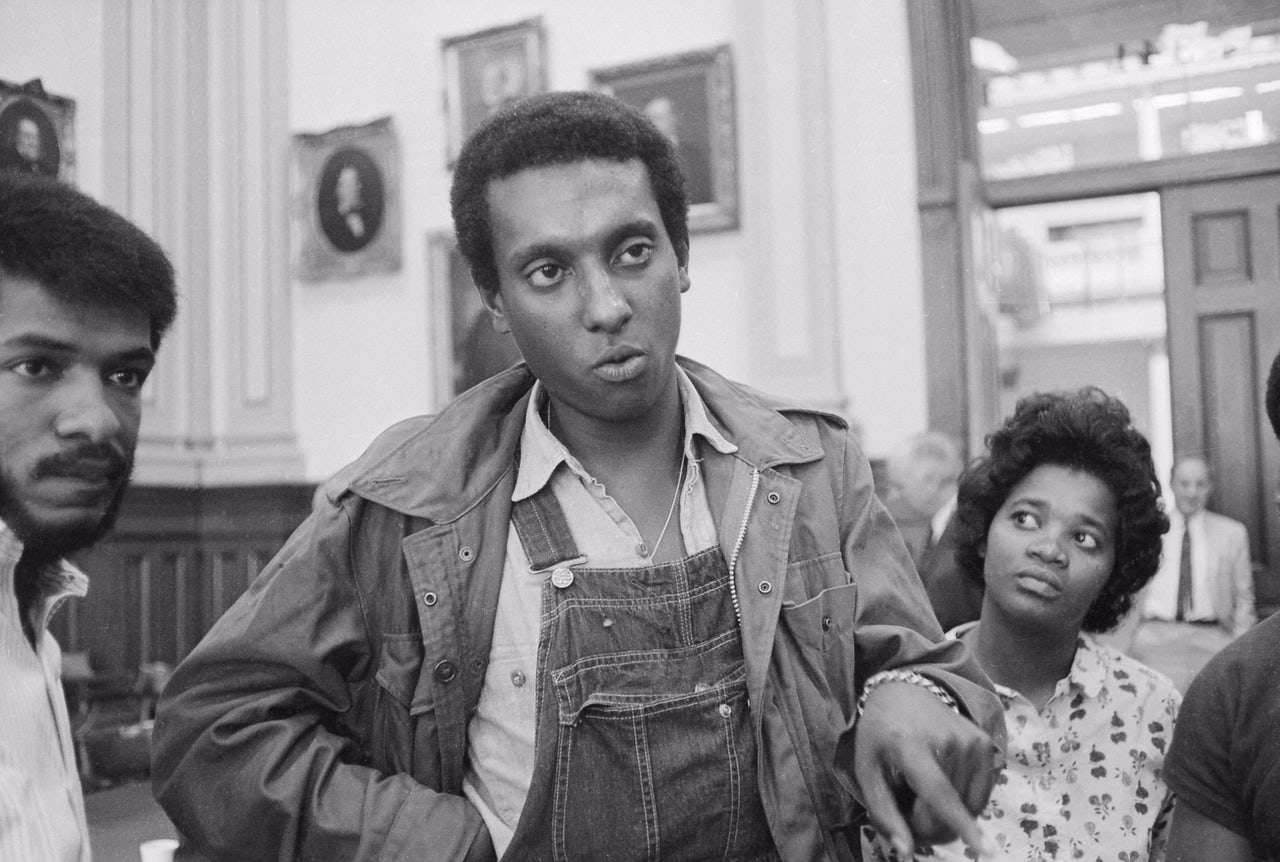 Stokely Carmichael, Chairman of the Student Nonviolent Coordinating Committee (SNCC), and a leader in the 'Black Panther' political party in 1966