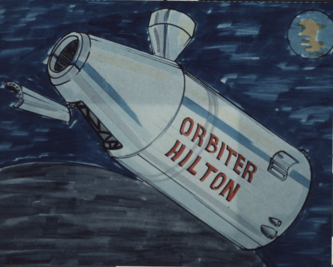Concept drawing for the Orbiter Hilton hotel.