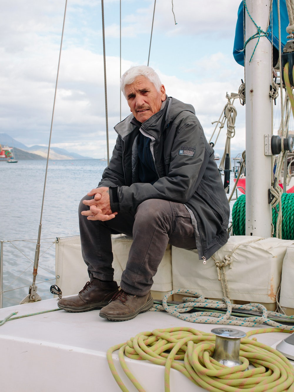 Antonio Guglielmo, an Italian skipper, offers tourist cruises to Antartica and Cape Horn Island on his 46-foot sailing boat.