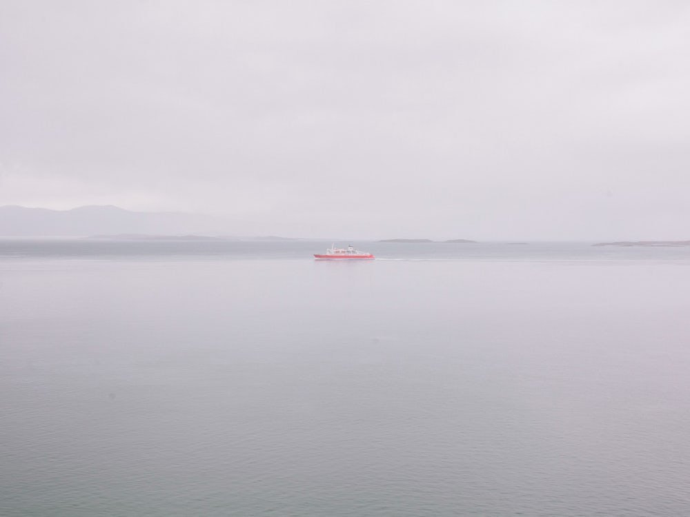 A tourist ferry sailing across the Beagle Channel.