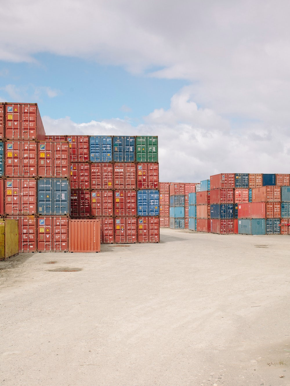 A hub for shipping containers holding domestic and international imports.