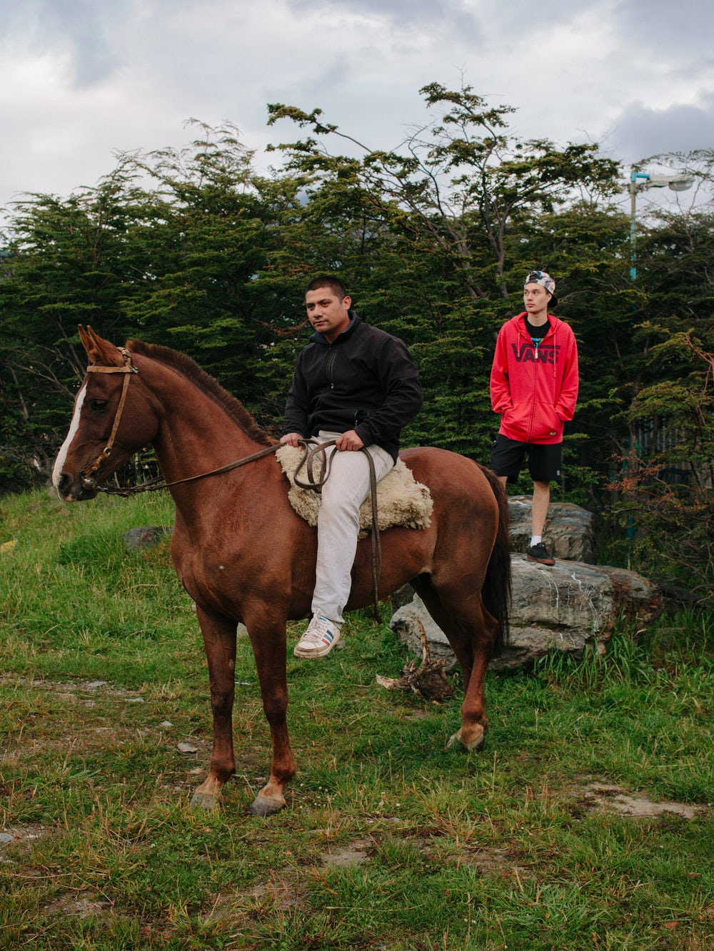 "Marco and Gabriel live in the eastern part of Ushuaia, in Barrio 640. ""We have six horses,"" said Marcos. ""Just as pets. People have dogs, we have horses."""