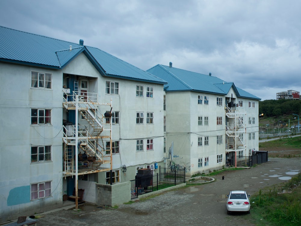 Public housing in Barrio 640, one of Ushuaia's oldest neighborhoods.