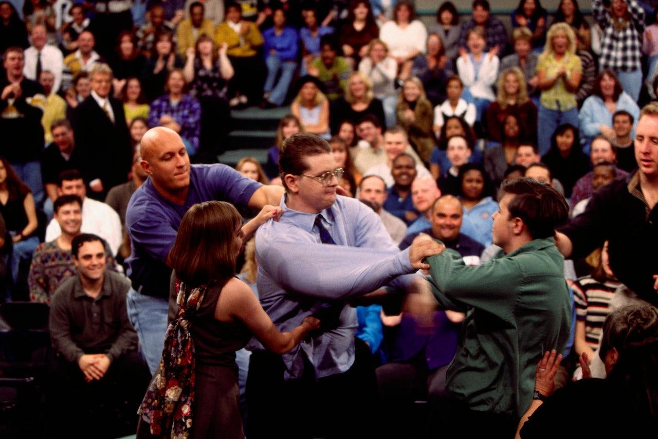 Bodyguards Stopping Fight on Jerry Springer