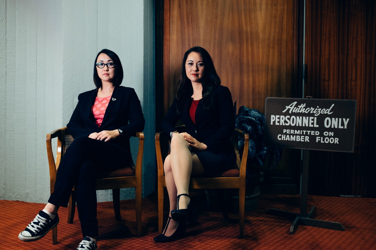 Sarah Fukumoto, 29, left, is chief of staff for her sister Beth, 33.