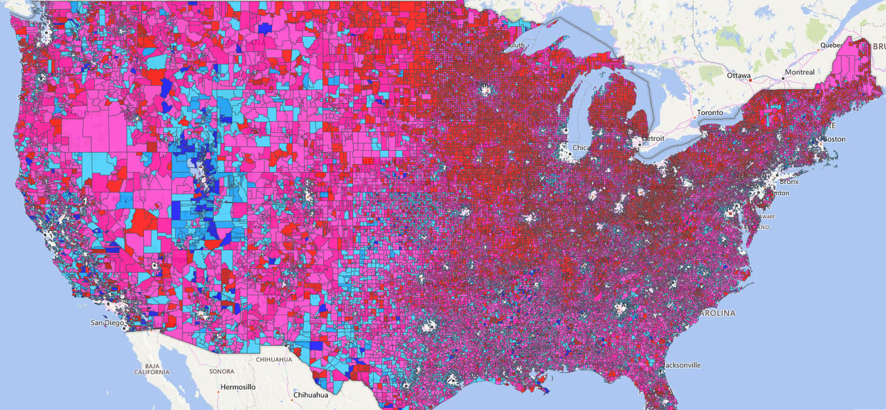 This is the most precise 2016 election map you\'ve ever seen ...