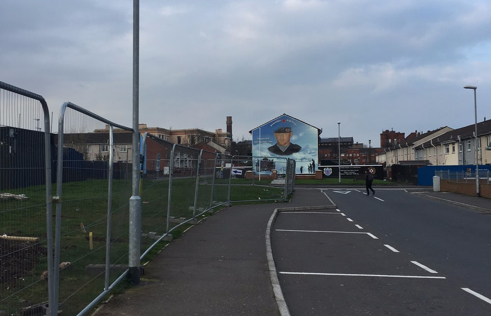 A Unionist mural in Belfast.