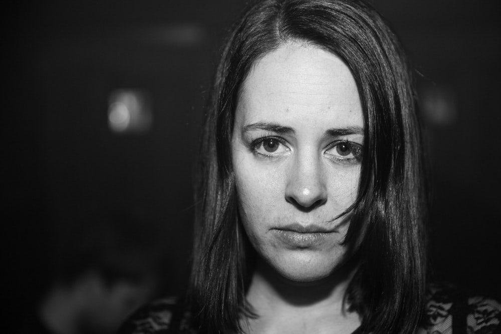 Laura June Kirsch (self-portrait), photographer, photographed at Tilt BK.
