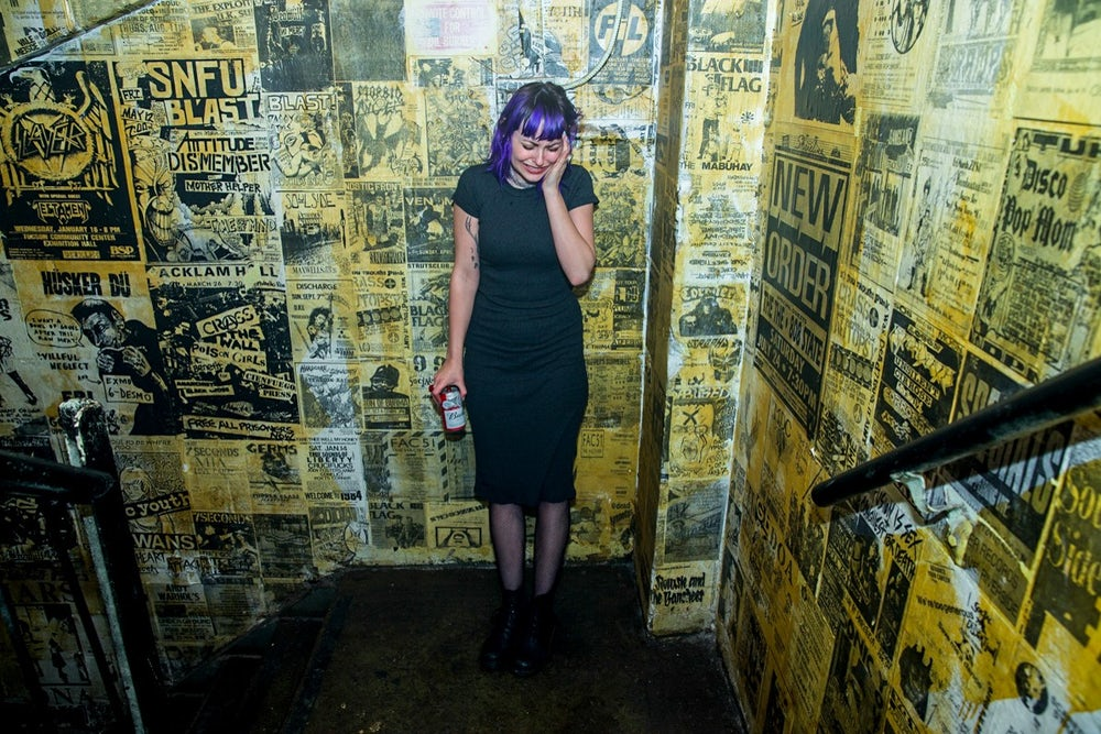 Alanna Vanacore, painter and visual artist, photographed at Tilt BK.