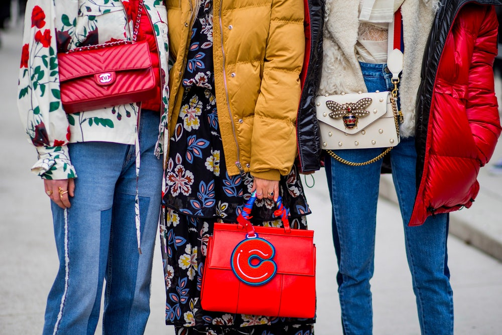 Guests at New York Fashion Week sporting Gucci's floral collection