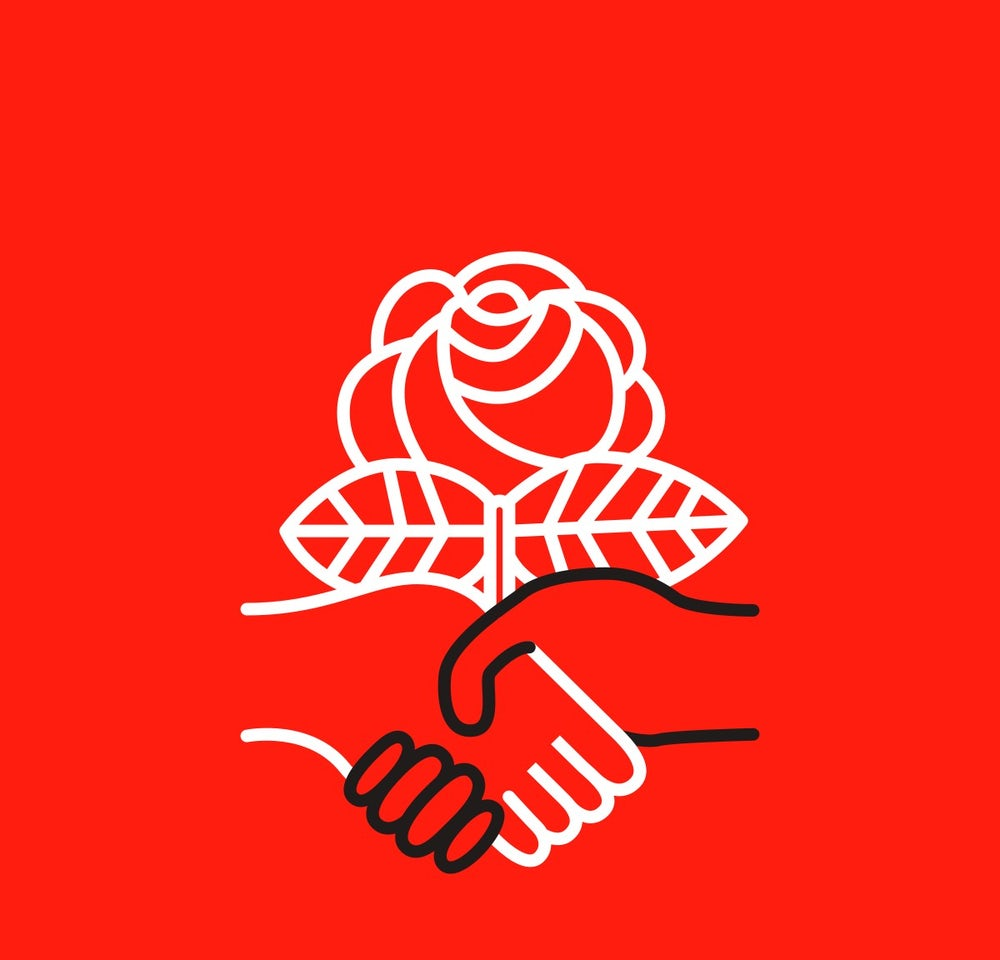 The official logo for the Democratic Socialists of America
