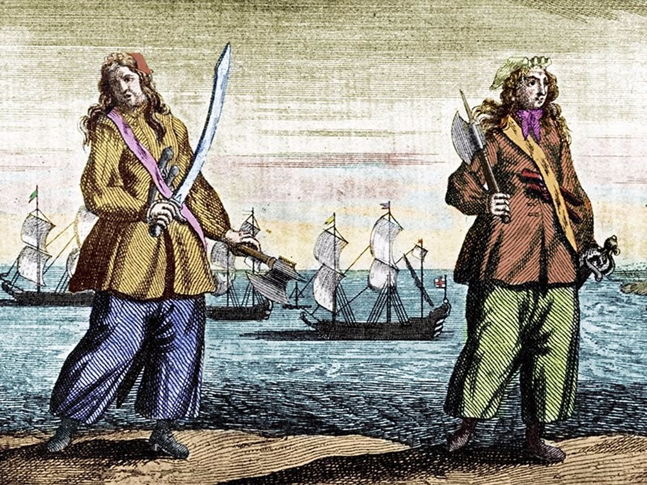 Anne Bonny and Mary Read, female pirates.