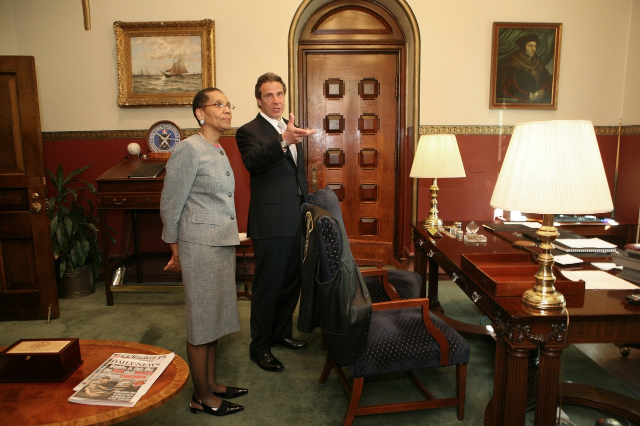 Judge Sheila Abdus-Salaam with Governor Andrew Cuomo.