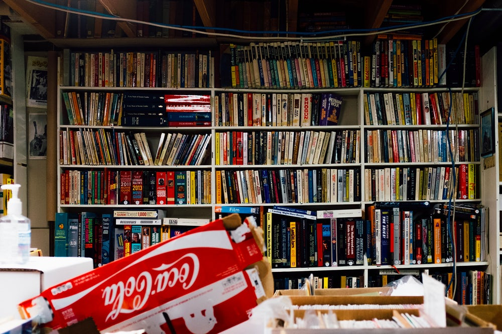 Network stores a sprawling collection of reference materials, magazines, CDs, and more at its headquarters.