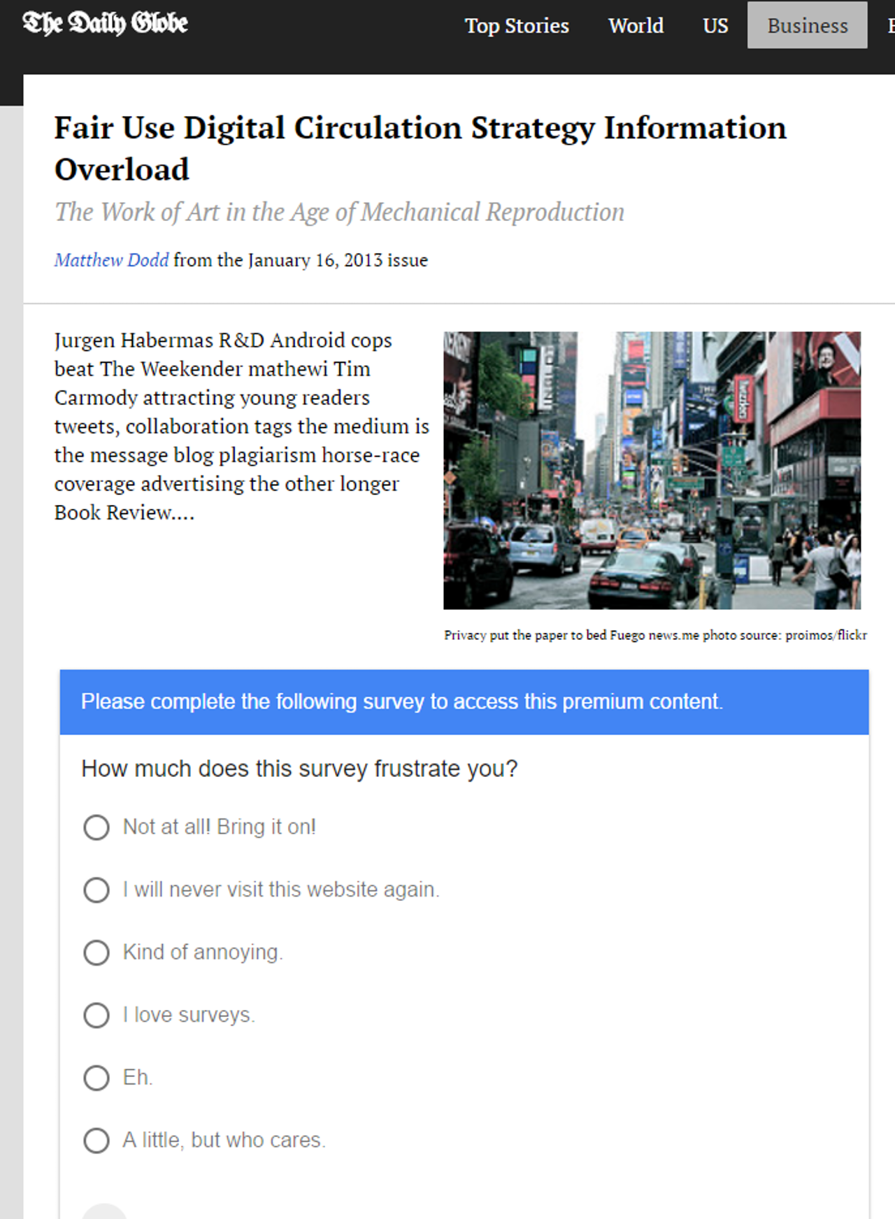 The preview Google showed when I created a Google Survey.