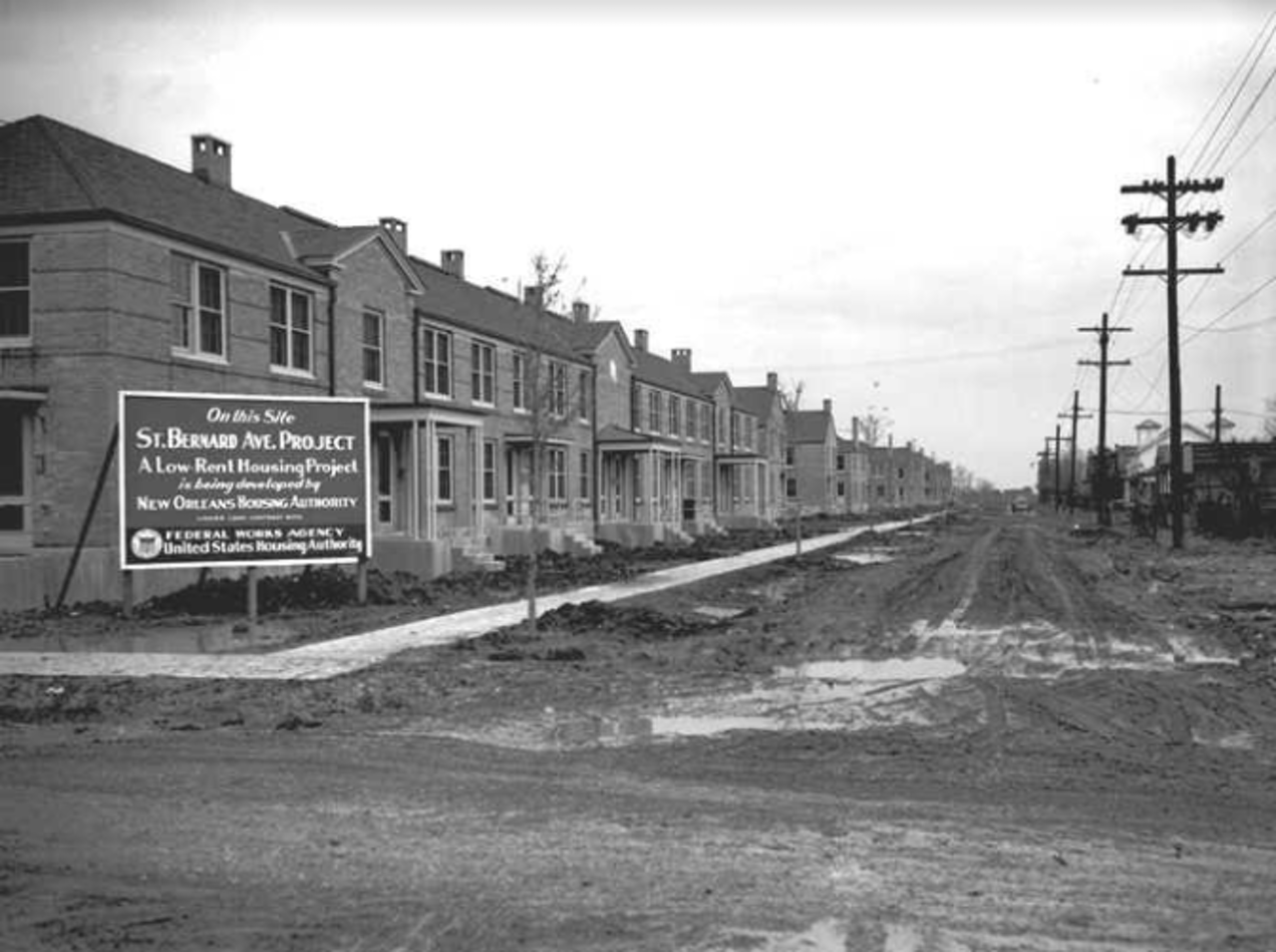 The St. Bernard public housing development was built in the late 1930s amid a surge of government concern for people's well-being.