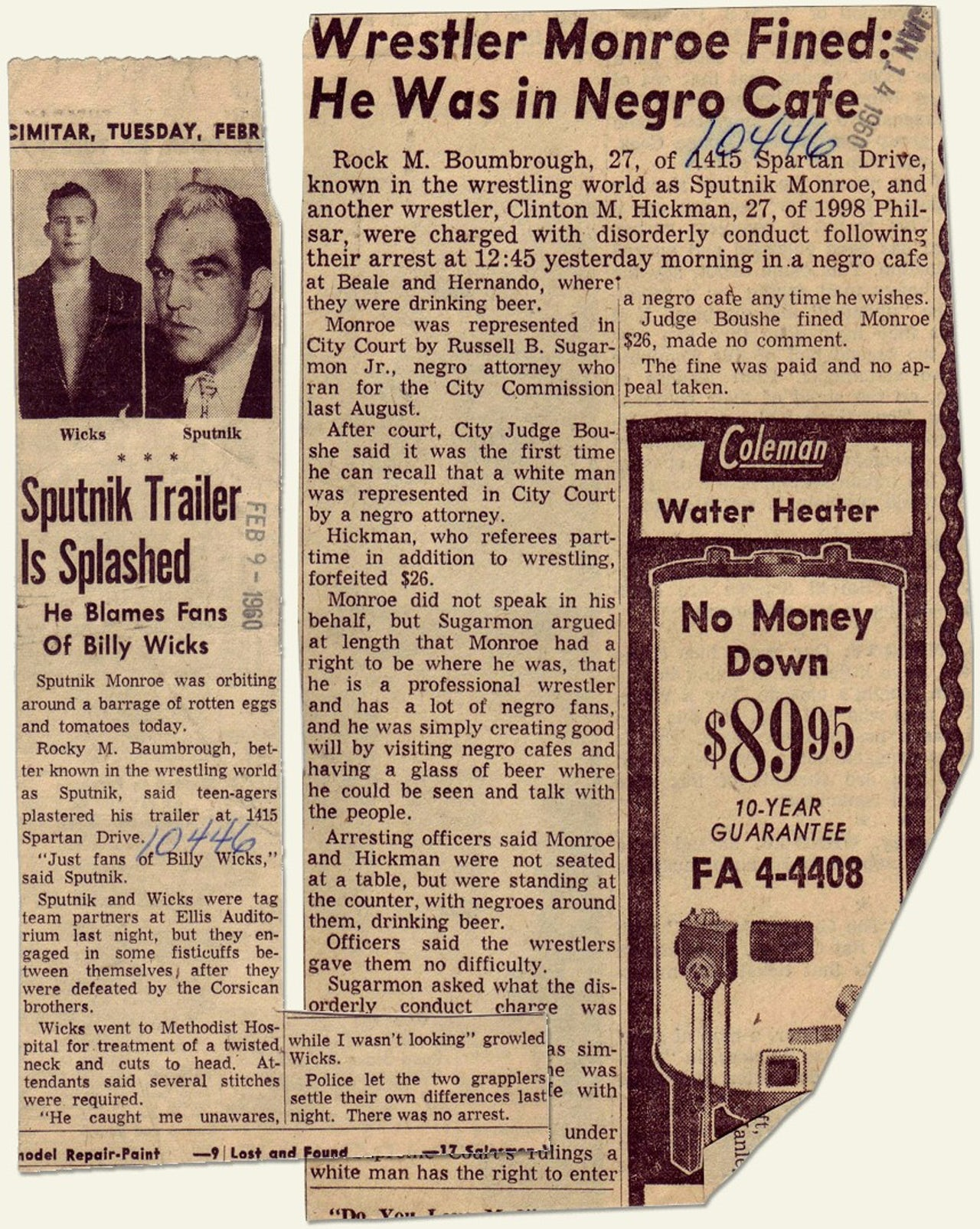 In the late '50s and early '60s, newspaper coverage of Monroe positioned him as a controversial figure in Memphis.