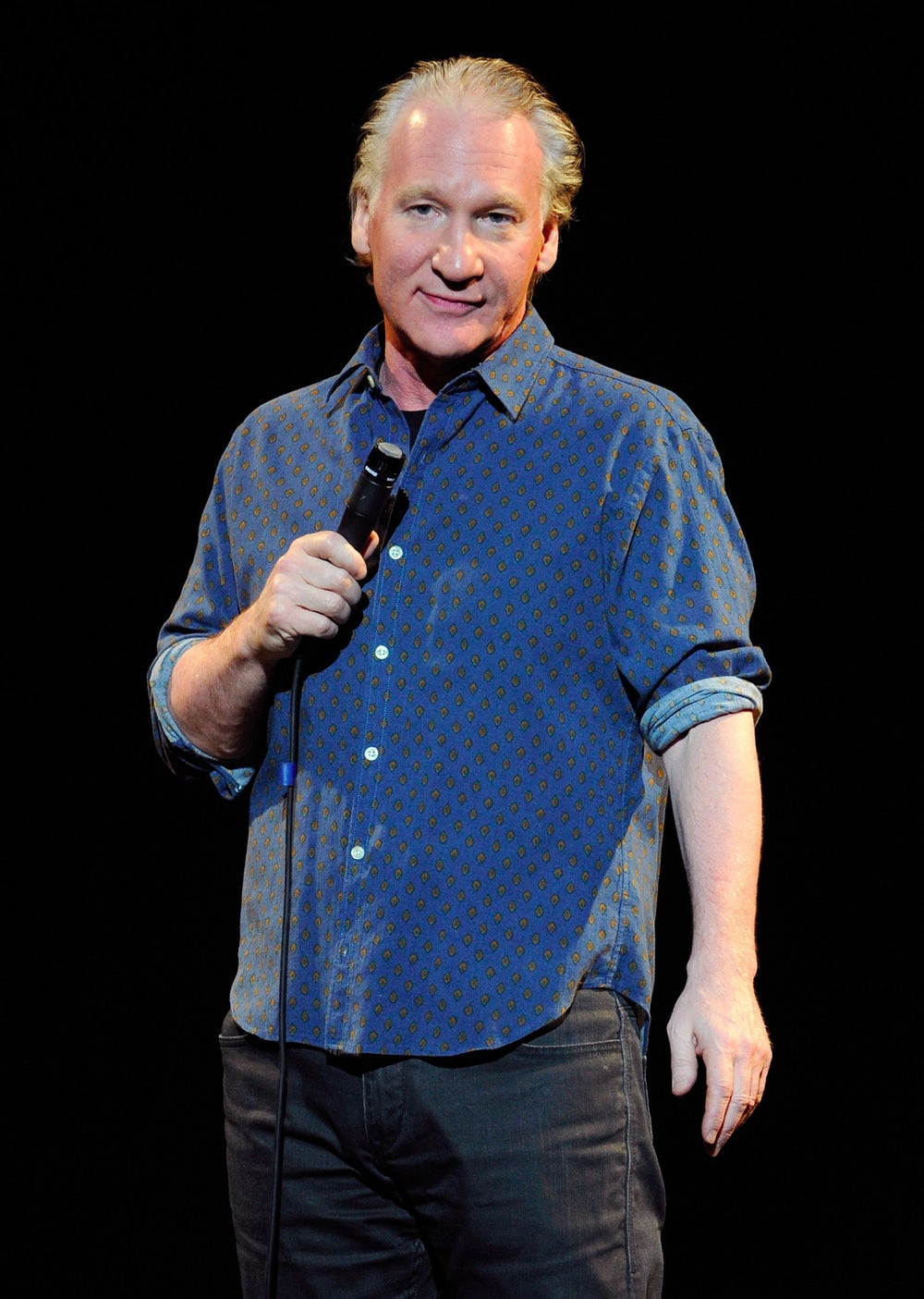 Bill Maher performs onstage in 2013. In the past he has spoken out against political correctness and apologizing for being politically incorrect.