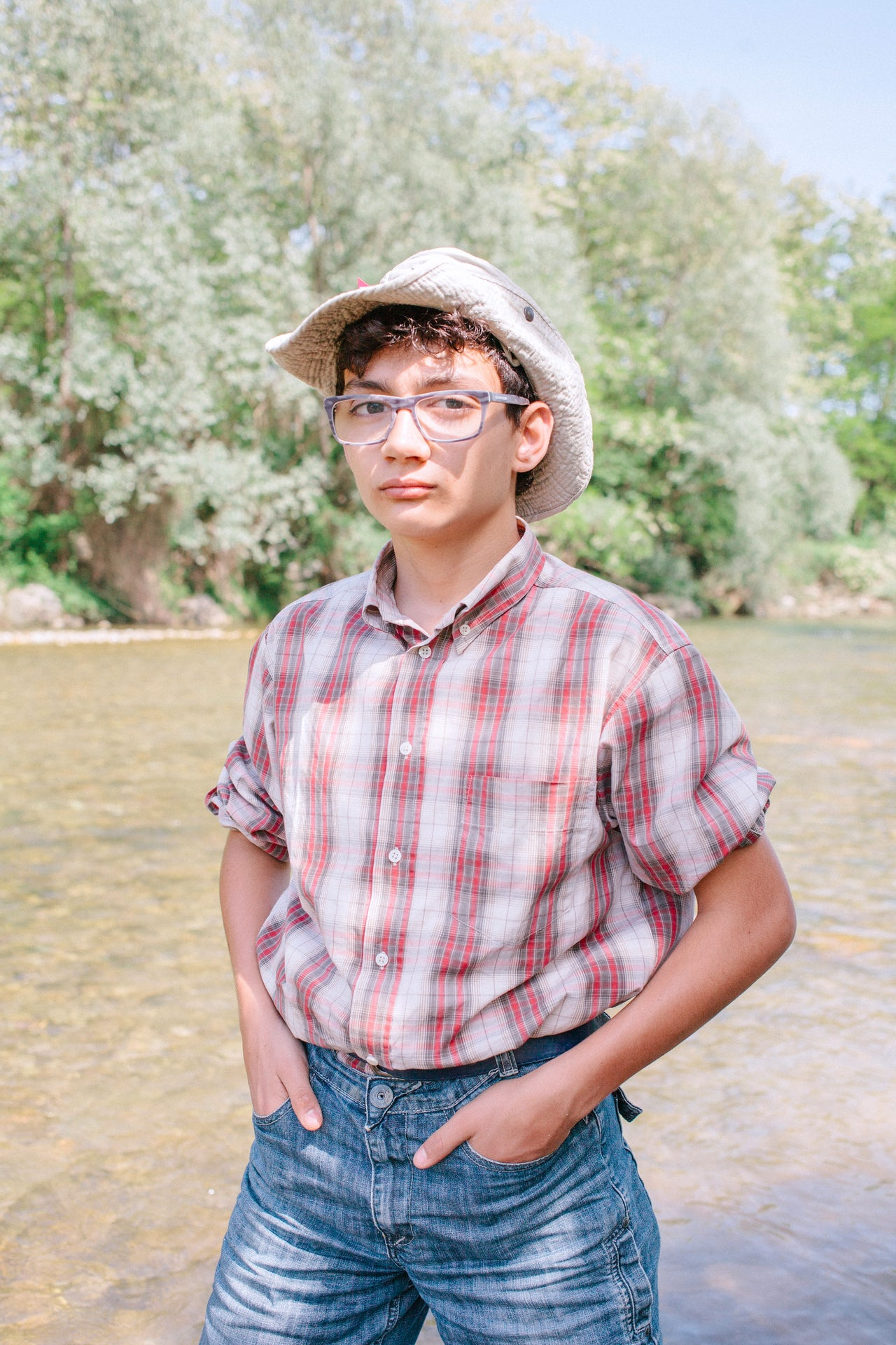 Riccardo Silvestri, 12, spends almost every weekend with his dad looking for gold in a creek near Turin.