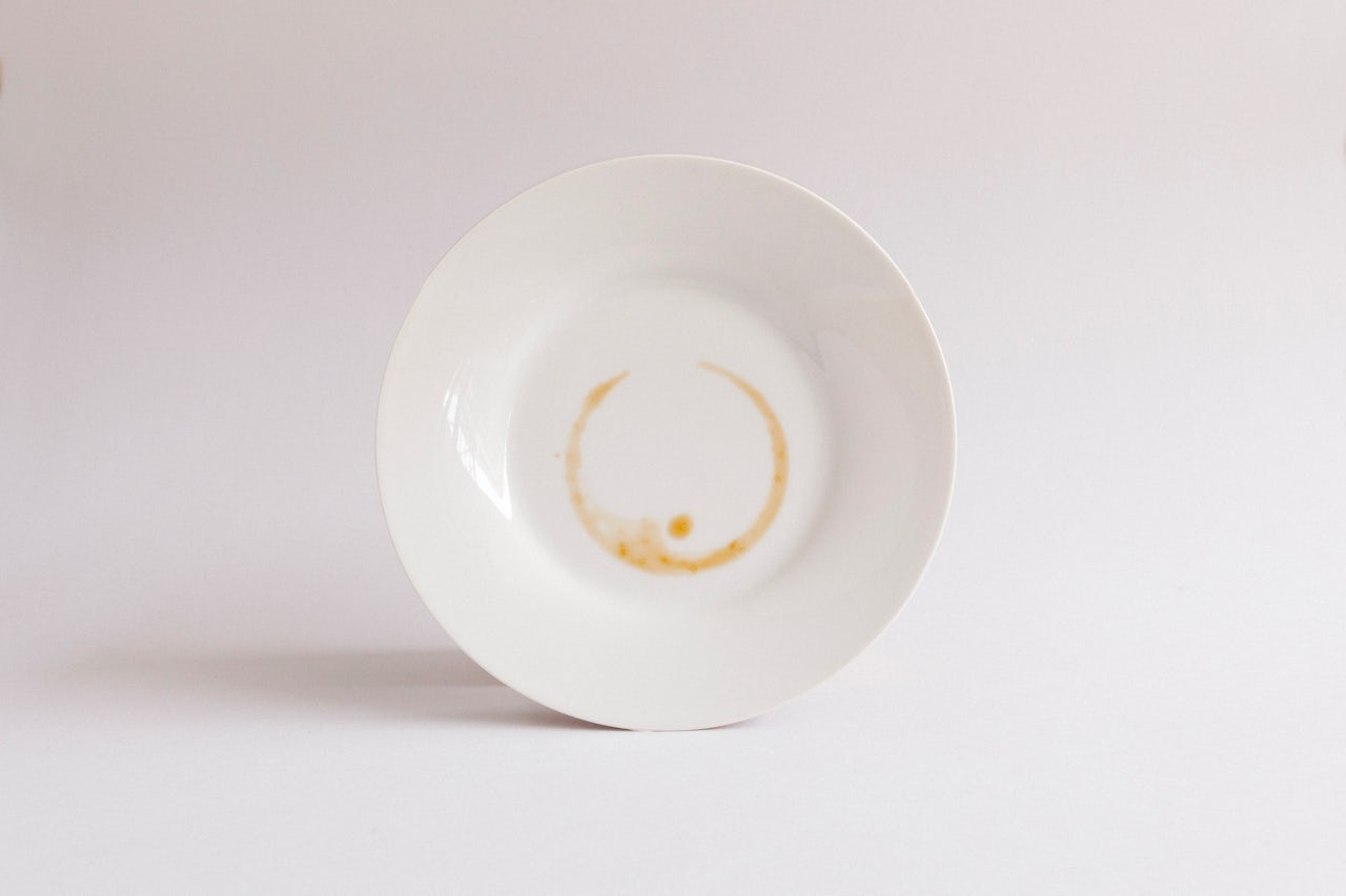 The remains of a coffee reading from a fortune teller.