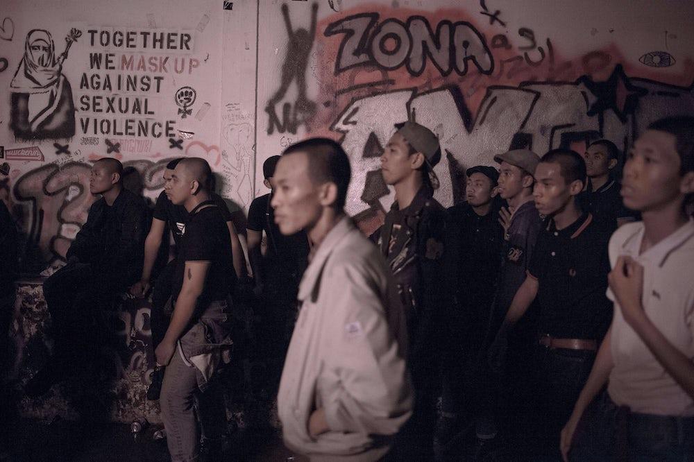 Malaysian skinheads attend a show in Kuala Lumpur in 2015.