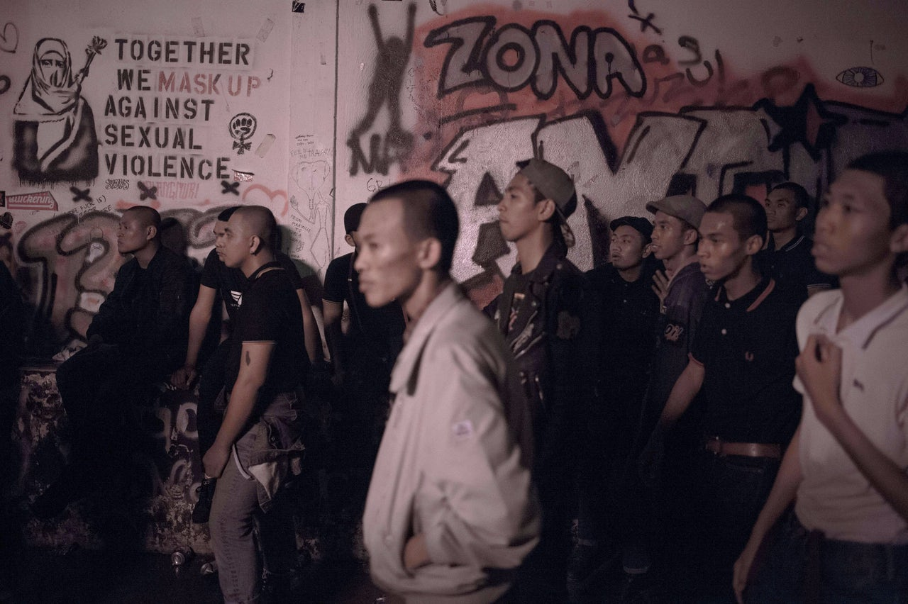 Malaysian skinheads attend a show in Kuala Lumpur in 2015.