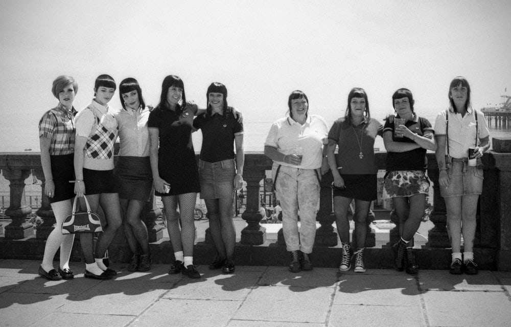 Women wear Fred Perry at the annual Skinhead Reunion event in Brighton in 2014.