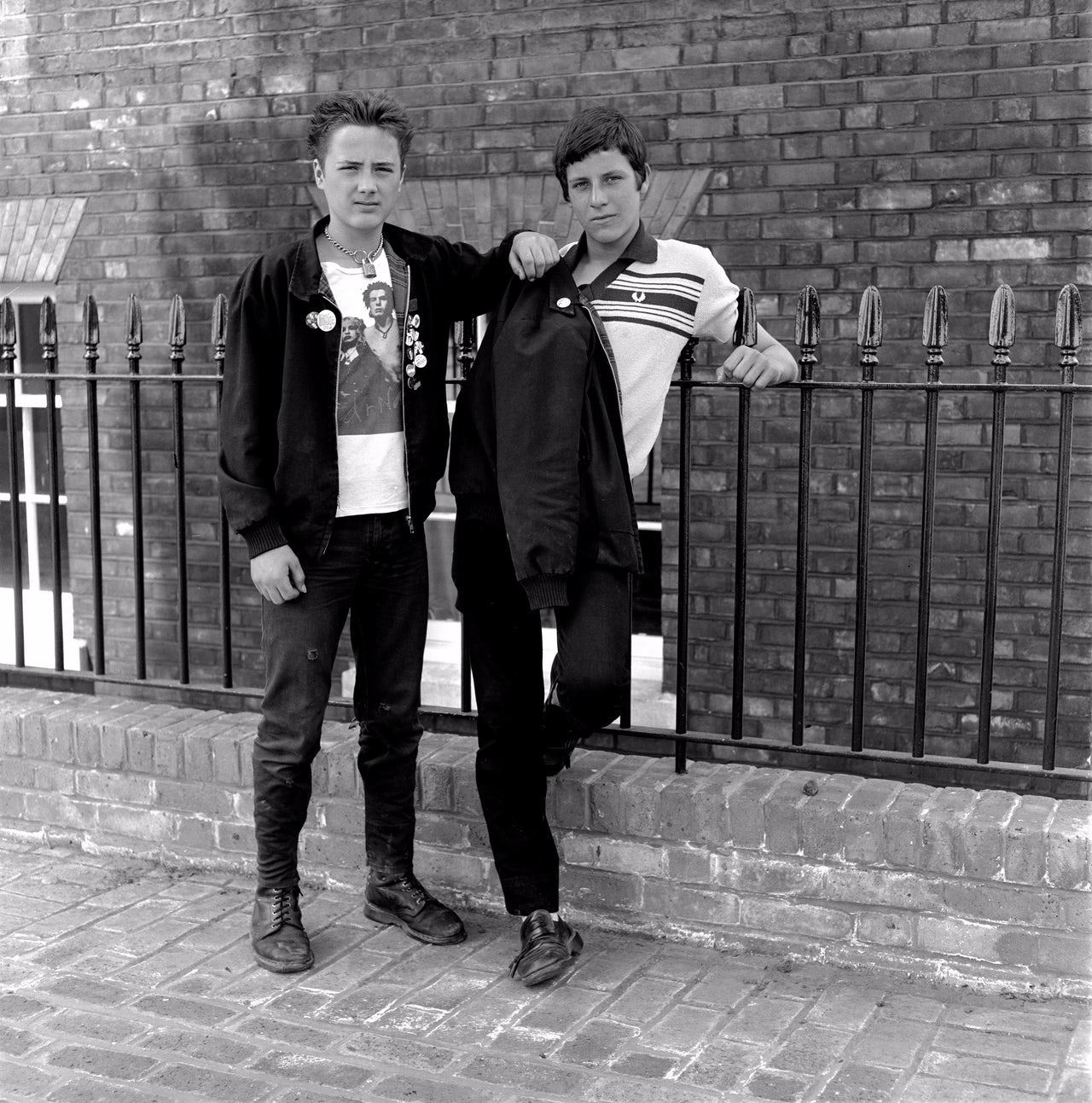 Two young mods in Woolwich, London in 1981.