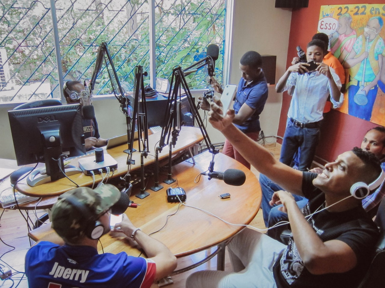 A radio station in Petionville, Haiti