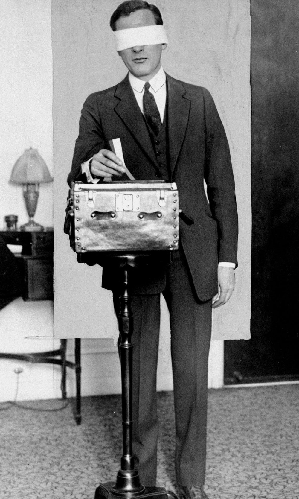 Mayor-elect James J. Walker selects the first ten people to share in a Daily News Cheer Checks draw in 1925.
