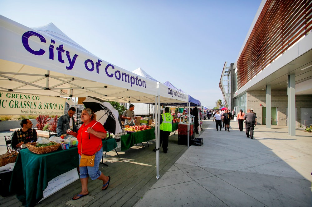 Community farmer's markets are just one way municipalities are working to make healthy foods more accessible.