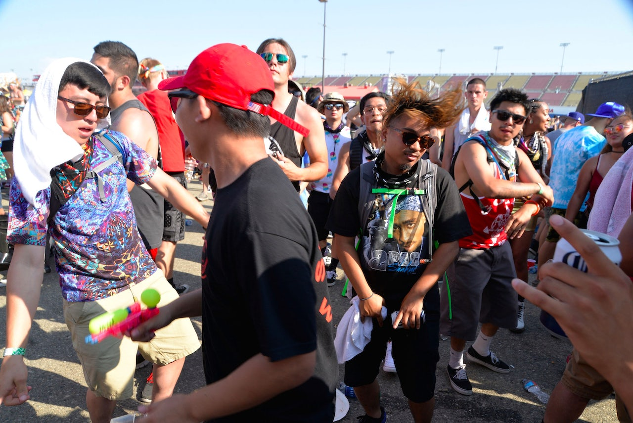 Ravers at Hard Summer Music Festival 2016 in Fontana, California.