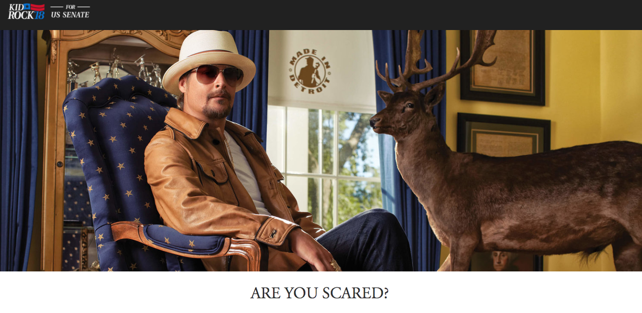 Kid Rock may or may not run for Senate.