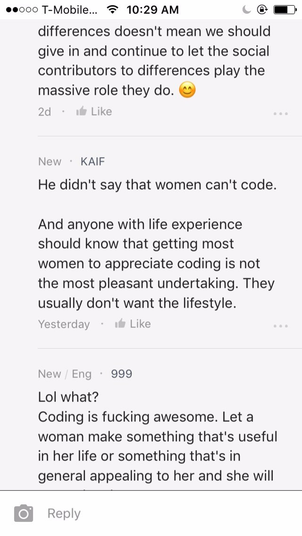 Another screenshot from the same thread on Blind.