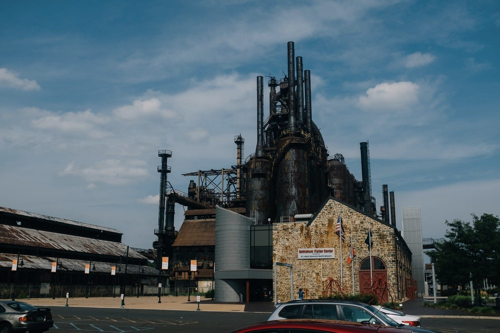 Abandoned steel stacks in Bethlehem, Pennsylvania.