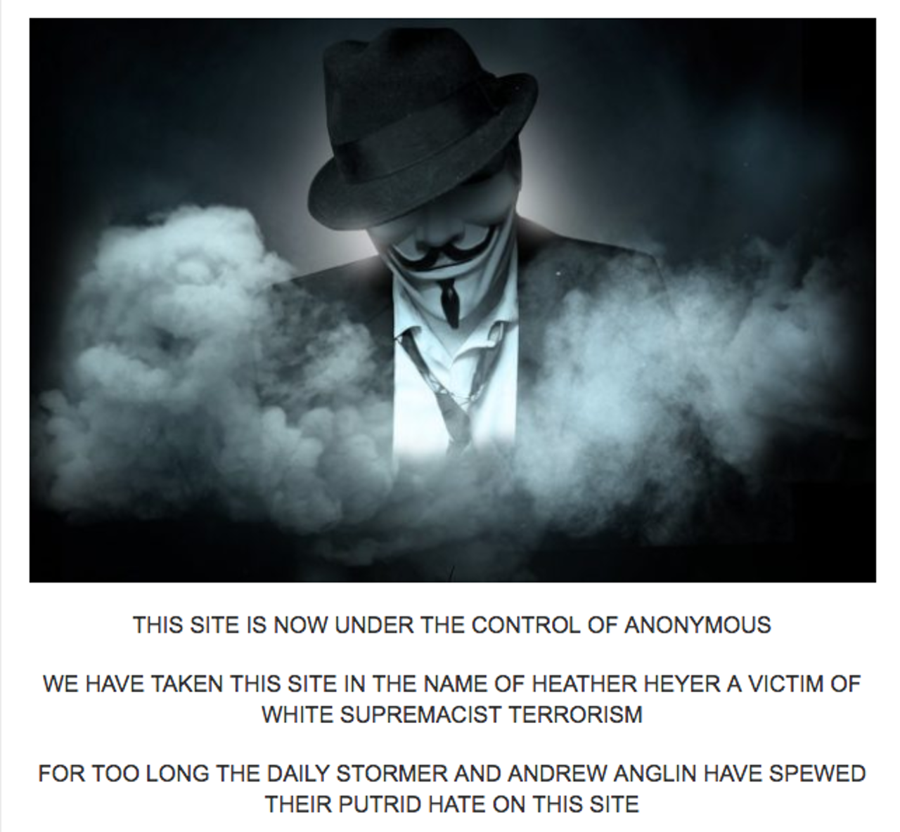Screenshot from The Daily Stormer.