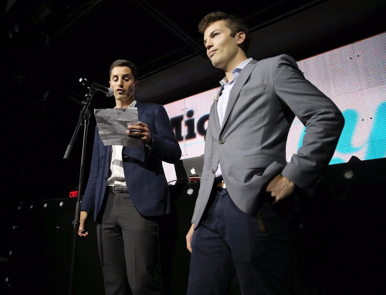 From left, Mic.com co-founders Chris Altchek and Jake Horowitz at the Mic50 Awards in June 2015.