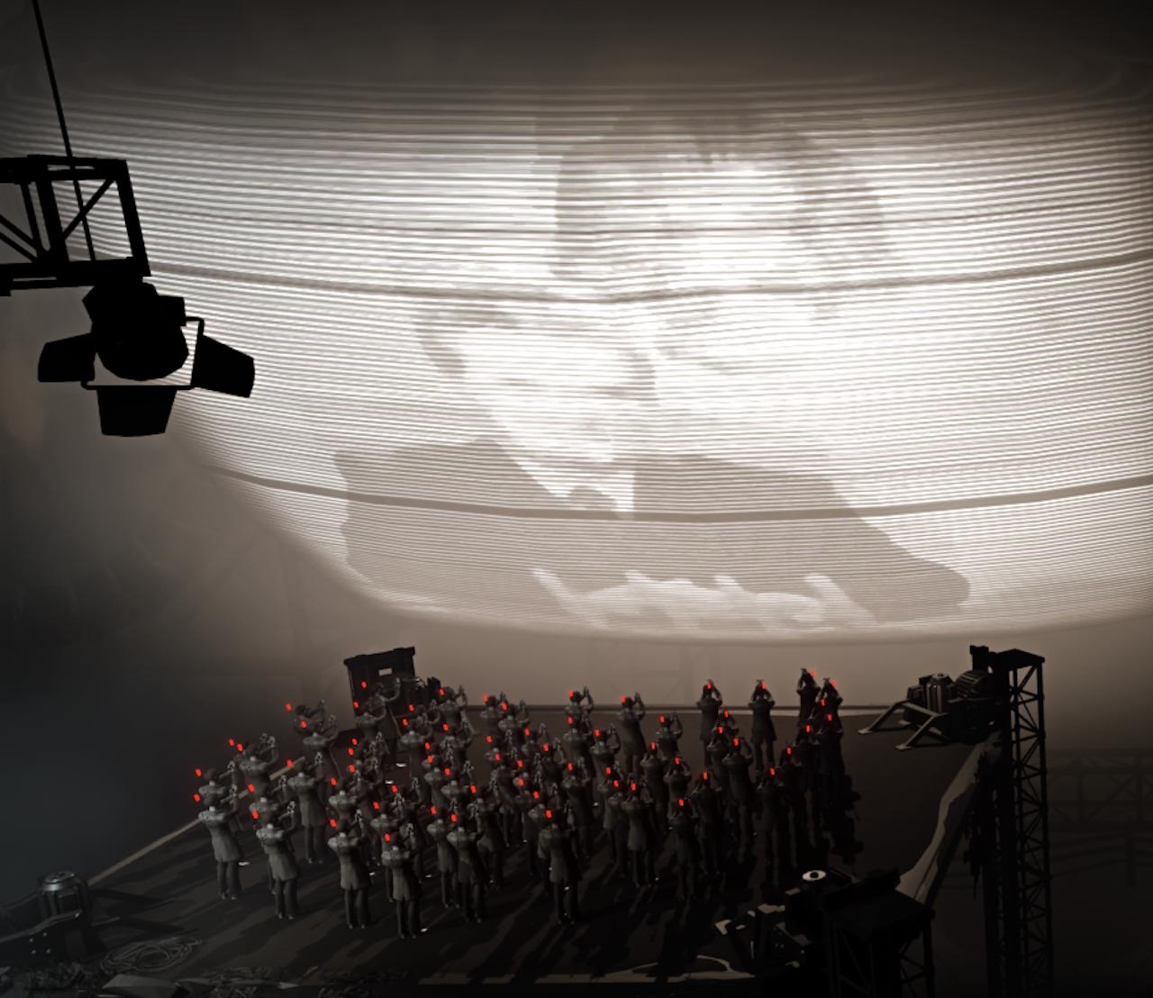 Screencap from Black the Fall.