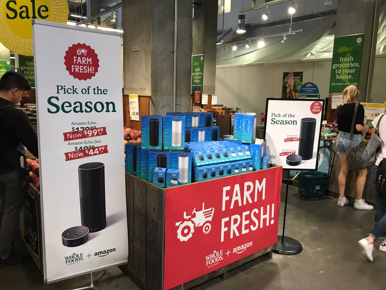 You can now pick up a handy home surveillance tool/speaker at your local Whole Foods.