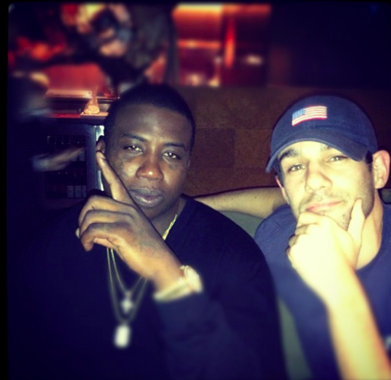 Gucci Mane and Neil Martinez-Belkin at their first meeting in 2012.