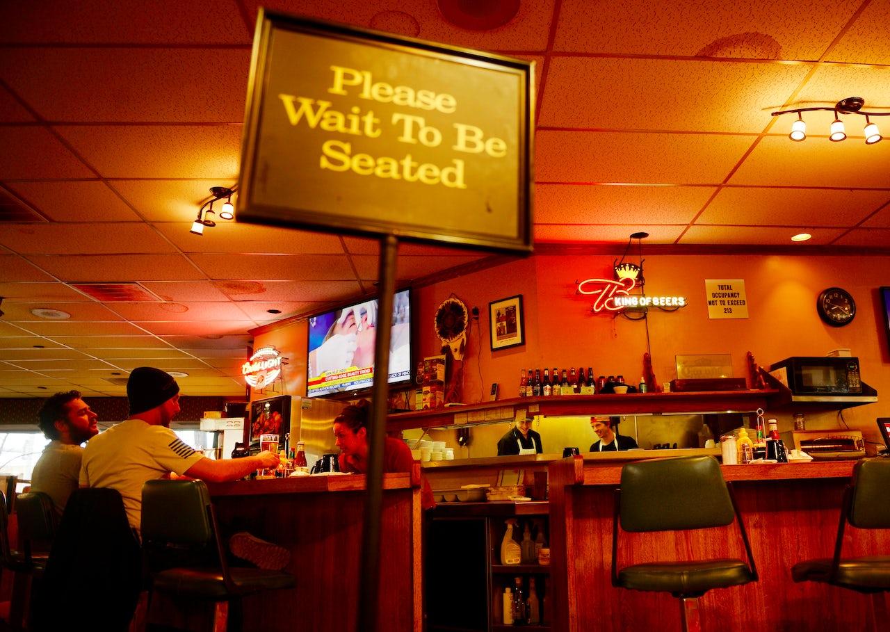 Inside The Branding Iron Restaurant in Fort Lupton, Colorado.