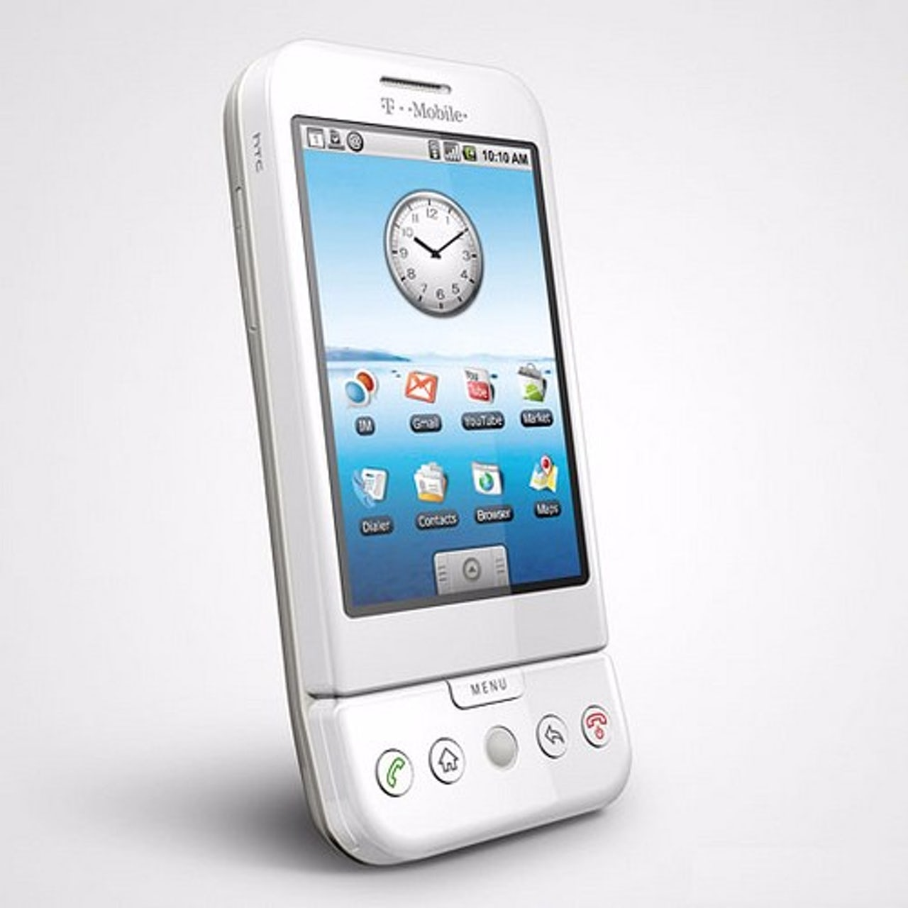 Remember this thing? It's the G1, the first Android phone, produced in partnership with HTC.