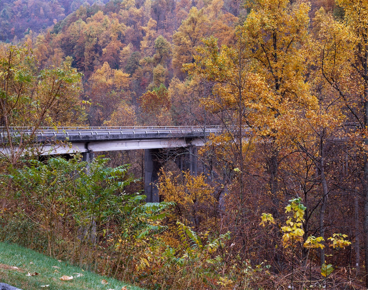North Carolina's Blue Ridge Parkway in fall 2004.