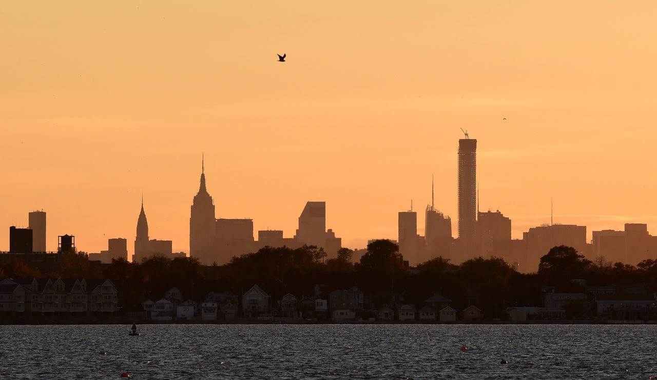 The Manhattan skyline in autumn 2014.