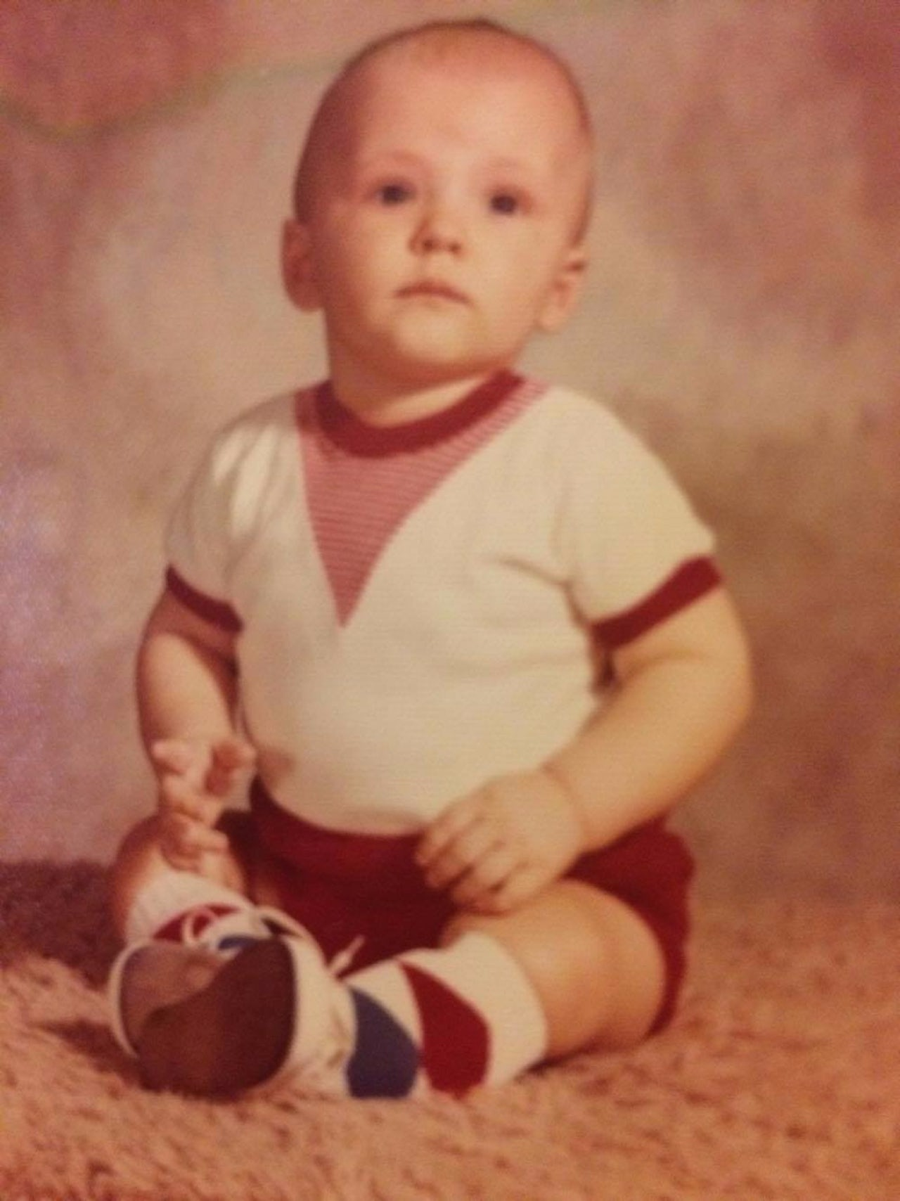 Jim Pete, shown here as an infant, was told by his parents around age six that he had been adopted as a baby. Forty years later he would follow through with the search that would lead him to his birth mother.