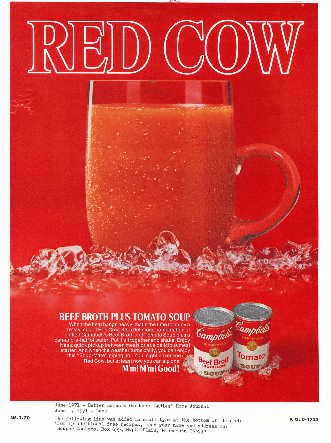Soup served in a mug, as it is in this 1971 Campbell's ad, implies that soup is a beverage, but is it?